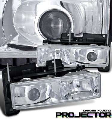 GMC Sierra 1988-1998 Chrome Projector Headlights