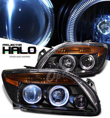Scion tC 2005-2007 Black Halo Projector Headlights