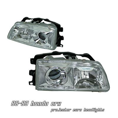 Honda Civic 1988-1989 Clear Projector Headlights