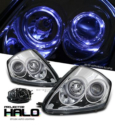 Mitsubishi Eclipse 2000-2005 Clear Dual Halo Projector Headlights