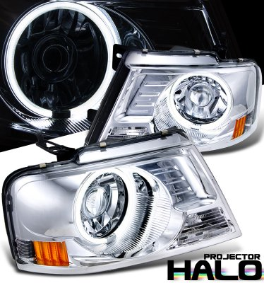 Ford F150 2004-2008 Clear CCFL Halo Projector Headlights