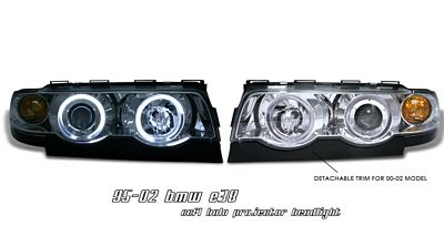 BMW E38 7 Series 1995-2001 Clear Dual CCFL Halo Projector Headlights