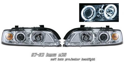 BMW E39 5 Series 1997-2003 Clear Dual CCFL Halo Projector Headlights