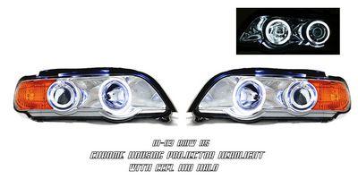 BMW X5 2001-2003 Clear Dual CCFL Halo Projector Headlights