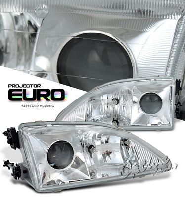 Ford Mustang 1994-1998 Clear Projector Headlights