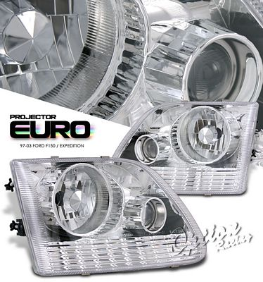 Ford Expedition 1997-2002 Clear Projector Headlights