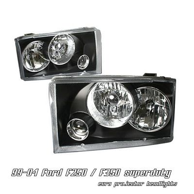 Ford F250 Super Duty 1999-2004 Black Projector Headlights