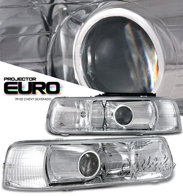Chevy Silverado 1999-2002 Clear Projector Headlights