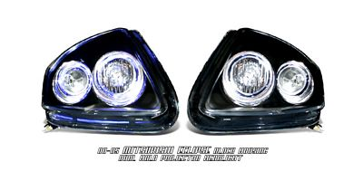 Mitsubishi Eclipse 2000-2005 Black Dual Halo Projector Headlights