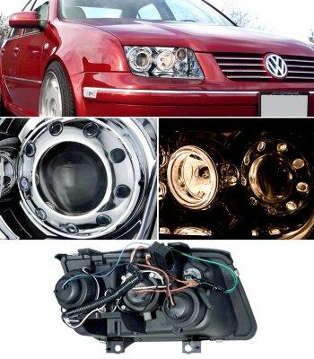 VW Jetta 1999-2004 Clear Dual Halo Projector Headlights