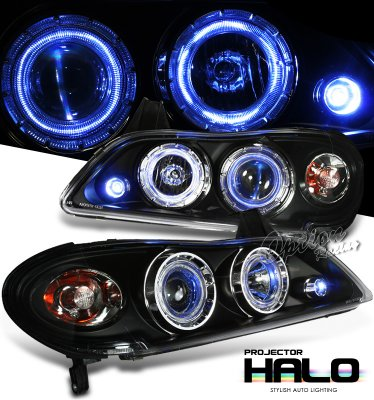 Infiniti I30 2000-2004 Black Halo Projector Headlights