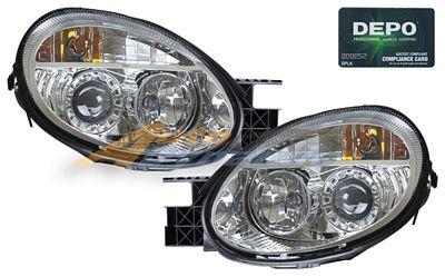Dodge Neon 2003-2005 Depo Clear Projector Headlights