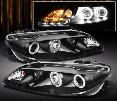 drl yd bk black spyder dp mazda projector pro com amazon auto fog halo headlight