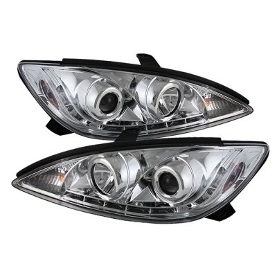 Toyota Camry 2002-2006 Clear Projector Headlights with LED
