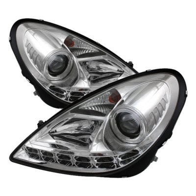 Mercedes Benz SLK 2005-2010 Clear Projector Headlights with LED Daytime Running Lights