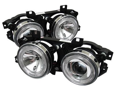 BMW E34 5 Series 1989-1996 Clear Dual Halo Projector Headlights