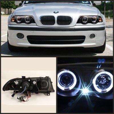 BMW 3 Series Sedan 1999-2001 Black Halo Projector Headlights