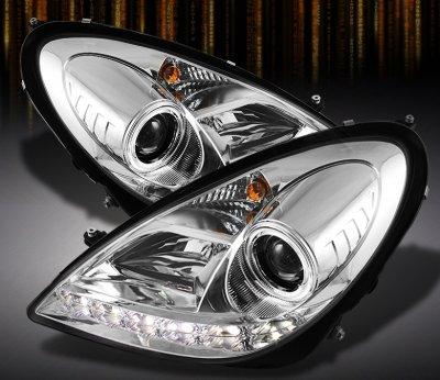 Mercedes Benz SLK 2005-2011 Clear Halo Projector Headlights
