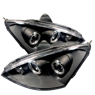 Ford Focus 2000-2004 Black Dual Halo Projector Headlights