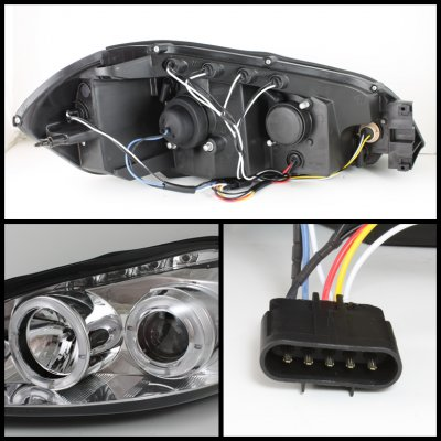 Chevy Impala 2006-2010 Clear CCFL Halo Projector Headlights