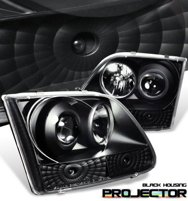 Ford F150 1997-2003 Black Projector Headlights