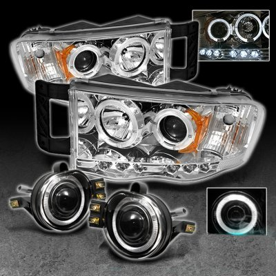 2005 Dodge Ram Halo Headlights 2005 Dodge Ram Clear Halo