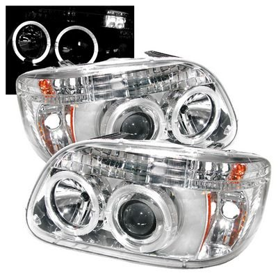 Mercury Mountaineer 1997 Clear Dual Halo Projector Headlights A1035f1z101 Topgearautosport