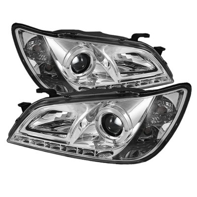Lexus IS300 2001-2005 Chrome Halo Projector HID Headlights LED DRL