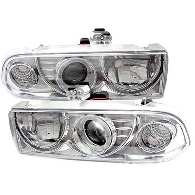 Chevy S10 1998-2002 Clear Halo Projector Headlights