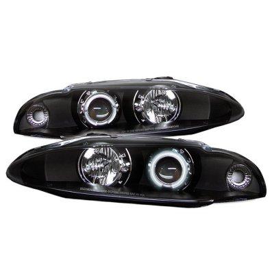Mitsubishi Eclipse 1997-1999 Black CCFL Halo Projector Headlights