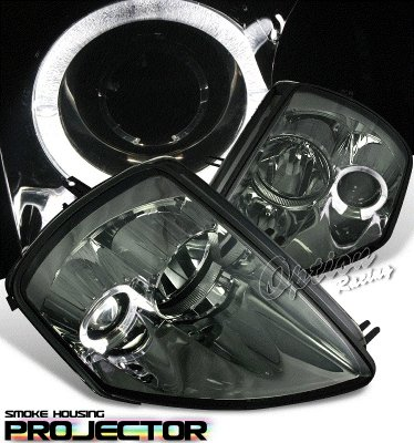 Mitsubishi Eclipse 2000-2005 Smoked Halo Projector Headlights