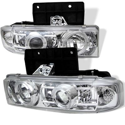 Chevy Astro 1995-2004 Clear Dual Halo Projector Headlights