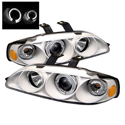 Honda Civic Sedan 1992-1995 White Dual Halo Projector Headlights