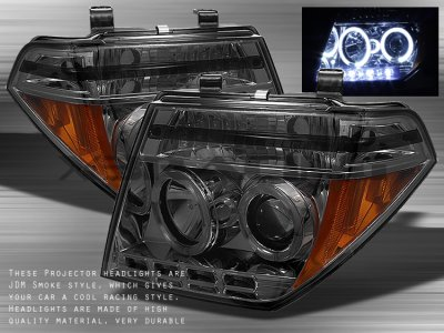 Nissan Pathfinder 2005 2007 Smoked Dual Halo Projector Headlights With Led A103vos7101 Topgearautosport