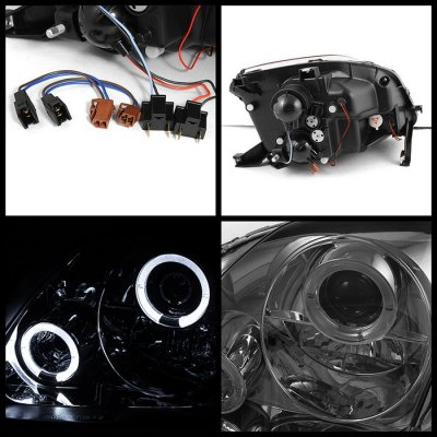 Honda Prelude 1997-2001 Smoked Halo Projector Headlights