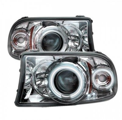 Dodge Dakota 1997-2004 Clear Dual Halo Projector Headlights