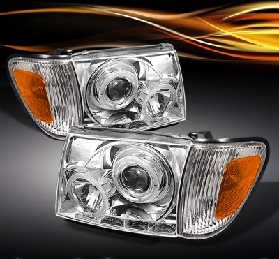 Toyota Tacoma 1997 2000 Clear Projector Headlights
