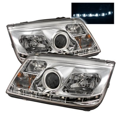 2002 VW Jetta Clear Halo Projector Headlights with LED Daytime Running Lights
