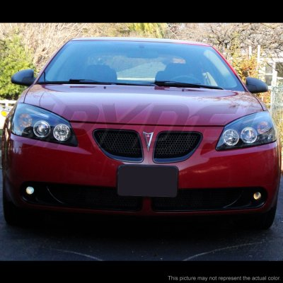 Pontiac G6 2005 2010 Smoked Dual Halo Projector Headlights With Led