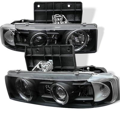 Chevy Astro 1995-2004 Black Dual Halo Projector Headlights