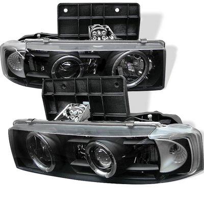 Chevy Astro 1995 2004 Black Dual Halo Projector Headlights