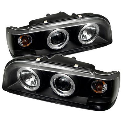 Volvo 850 1993-1997 Black Dual Halo Projector Headlights