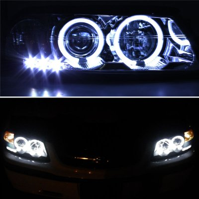 Chevy Impala 2000 2005 Clear Ccfl Halo Projector Headlights