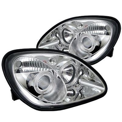 Mercedes Benz SLK 1998-2004 Clear Dual Halo Projector Headlights