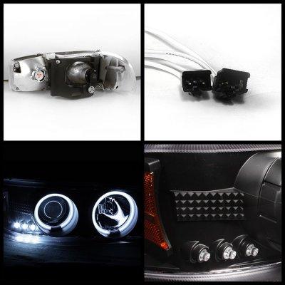 2005 gmc yukon xl black ccfl halo projector headlights. Black Bedroom Furniture Sets. Home Design Ideas