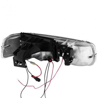 Chevy Silverado 1999-2002 Chrome Halo Projector Headlights LED DRL