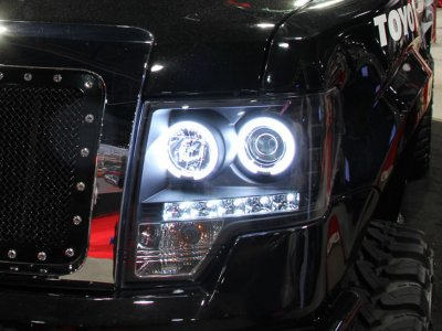 Ford F150 2009 2014 Black Dual Halo Projector Headlights