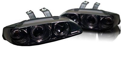 Honda Civic 1992-1995 Smoked Dual Halo Projector Headlights