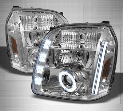 GMC Yukon 2007-2014 Clear Halo Projector Headlights with LED