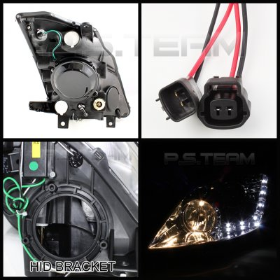 Nissan 350Z 2006-2009 Smoked HID Projector Headlights with LED DRL